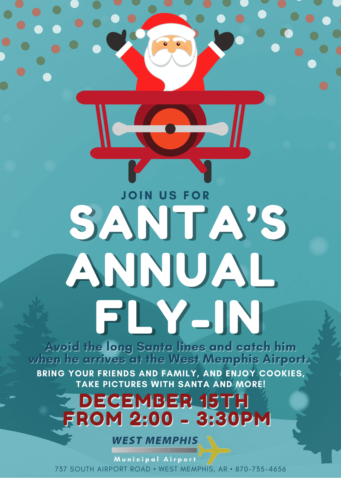 Santa's annual flying at the West Memphis Airport