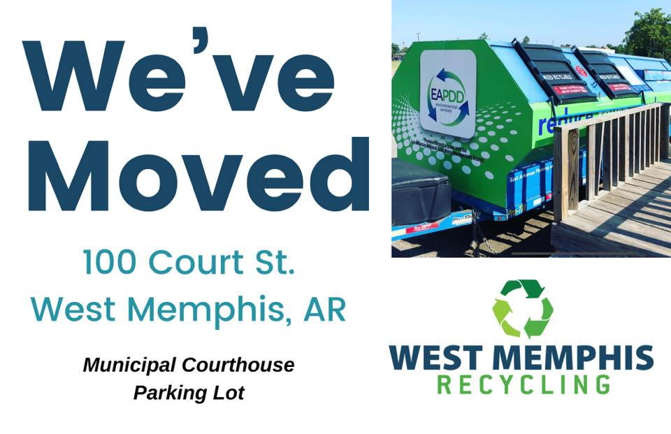 West Memphis Recycling Has Moved to former courthouse parking lot