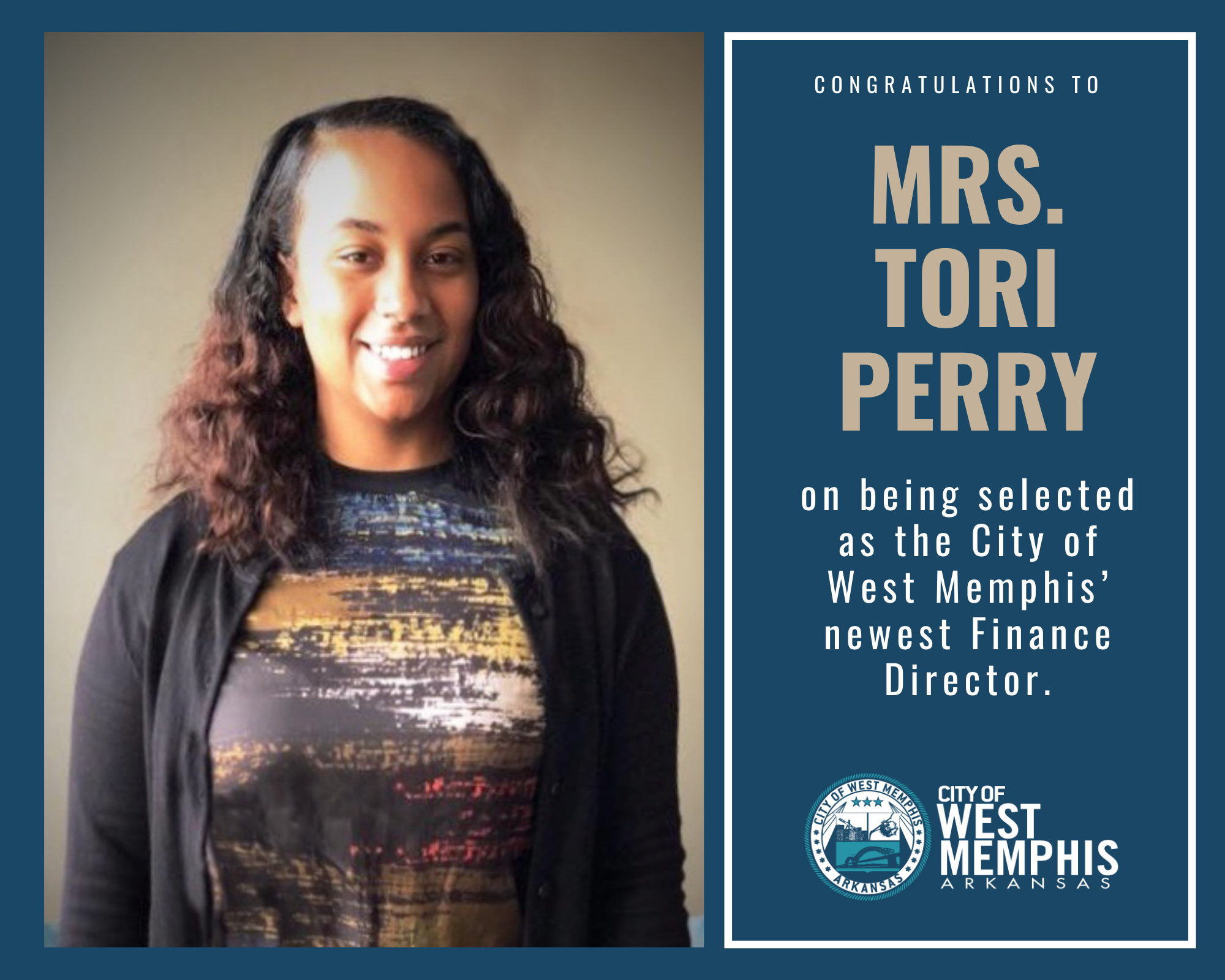 City of West Memphis Finance Director - Tori Perry