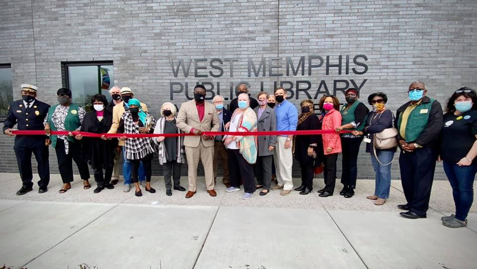 West Memphis Public Library Ribbon Cutting